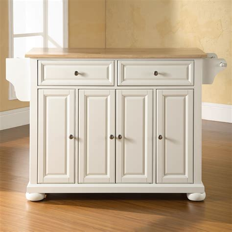 wood top kitchen island darby home co pottstown kitchen island with wood top