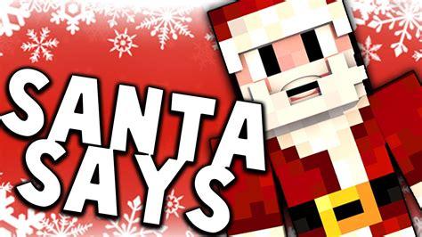 SANTA SAYS! New Minecraft Mini Game! - YouTube
