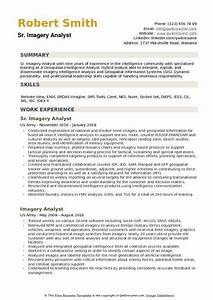 Inventory Resume Examples Imagery Analyst Resume Samples Qwikresume
