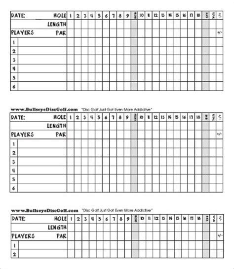 scorecard template    documents