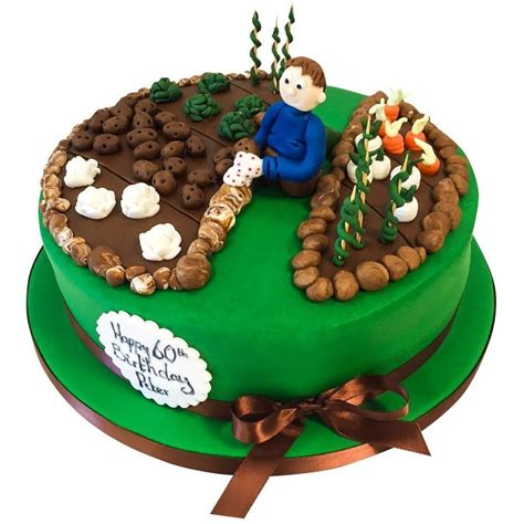 People drive by in their cars and drop gifts off, you say hello to everyone, and then they drive. Gardening / Allotment Cake - Buy Online, Free UK Delivery - New Cakes
