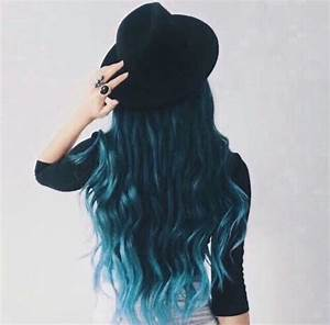 adorable, black, blue, blue hair, fashion, girl, girly ...