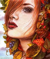 Autumn Colored Pencil Drawing