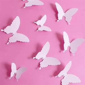 3d Schmetterlinge Wand : wandtattoo 3d schmetterlinge wei ~ Whattoseeinmadrid.com Haus und Dekorationen
