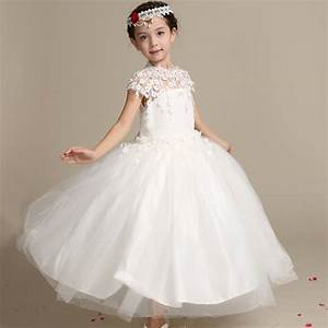 aliexpresscom buy girls elegant long lace wedding dress With childrens wedding dresses
