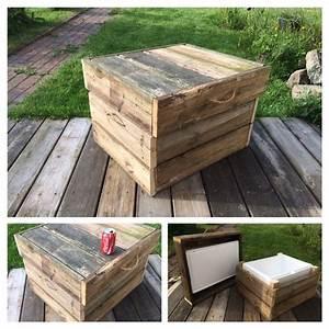 Bau Einer Holzterrasse : k hlbox beistelltisch hocker aus holzresten vom bau einer holzterrasse ideen rund ums haus ~ Sanjose-hotels-ca.com Haus und Dekorationen