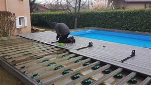 Chantier : Plage de piscine Terrasse Composite Fiberon 20 extrem gris Mably FC Terrasse Bois