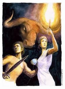 Theseus and Ariadne and the Minotaur | The Minotaur ...