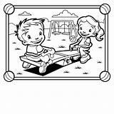 Coloring Playground Park Pages Playing Colouring Outside Children Seesaw Grade Equipment 5th Clipart Printable Bench Worksheets Staggering Thank Gym Clipartpanda sketch template