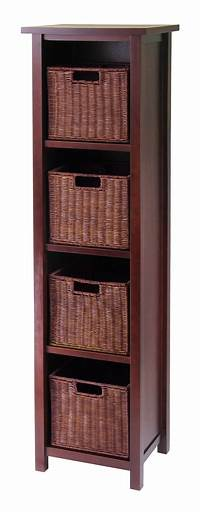 storage with baskets Milan 5pc Storage Shelf with Baskets; Cabinet and 4 Small ...