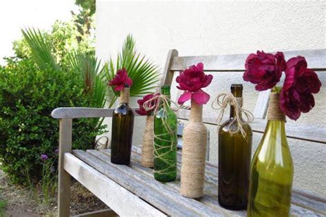 originelle vasen aus glasflaschen fuer besondere anlaesse