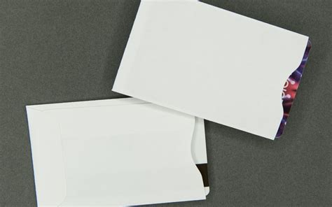 credit card sleeve template information packaging in stock plain white card sleeve