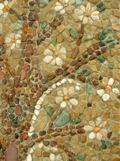 garden pathway pebble mosaic ideas   home surroundings