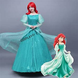 Princess Ariel Adult Costume The Little Mermaid Green ...