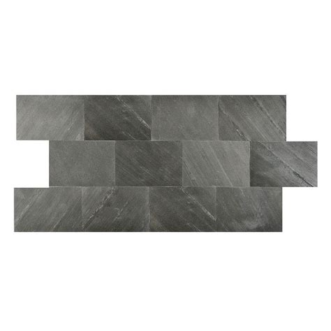 faststone black line 6 in x 9 in slate peel and stick