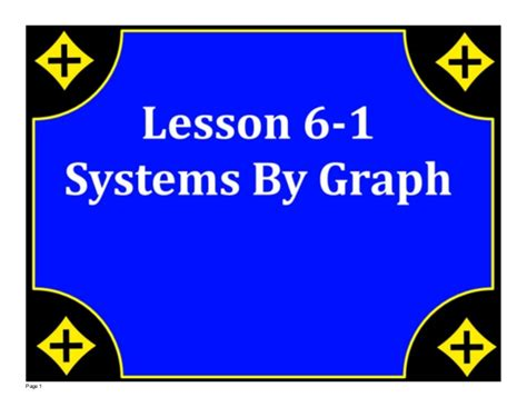 M8 Lesson 561 Systems By Graph