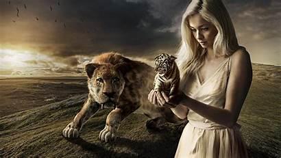 Tiger Fantasy 1080p Wallpapers Prehistoric Awesome Kobieta