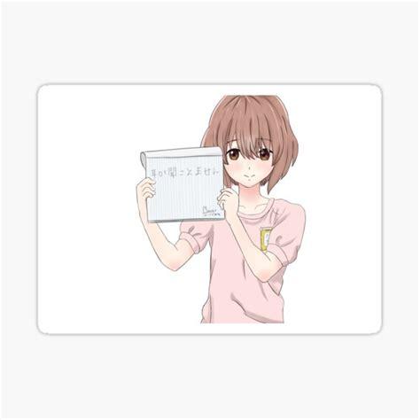 shoko nishimiya stickers redbubble