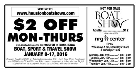 Houston Boat Show Discount by Houston Boat Show Discounts