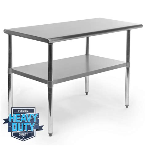 island tables for kitchen with chairs stainless steel commercial kitchen work food prep table