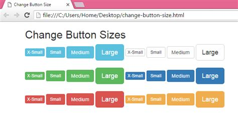 how to create search button in html change create button with different sizes using