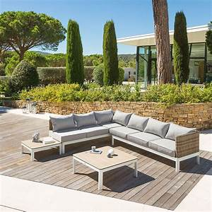 Salon De Jardin Angle : salon barcelone naturae hesp ride 6 places ~ Teatrodelosmanantiales.com Idées de Décoration