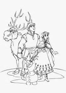 Sven Frozen Disney Coloring Pages