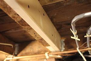 Fixing a damaged floor joist extreme how to for How to fix sagging floors