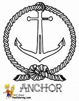 Ship Pirate Coloring Anchor Yescoloring Colouring Pirates Seas sketch template
