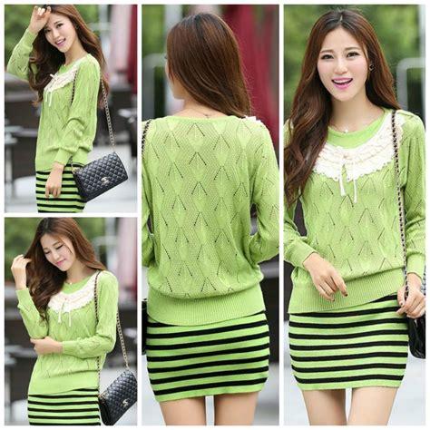 baju musim dingin korea terbaru sweater wanita