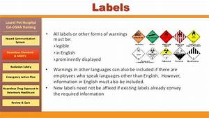 cal osha training for laurel pet hospital With all hazardous chemical labels must be