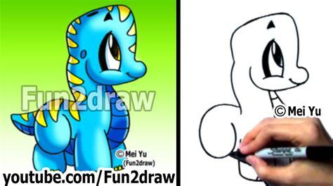 easy drawings   draw  cartoon dinosaur drawing