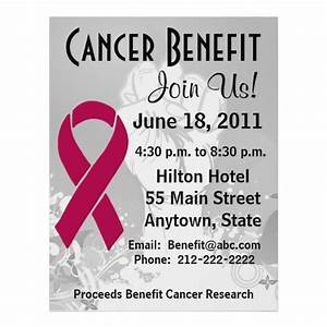 15 best Fundraiser Benefit Flyers For Cancer and Health ...