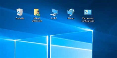 afficher bureau windows 10 afficher ce pc panneau de