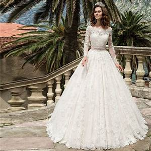 2017 long sleeve lace wedding dresses turkey boat neck a With aliexpress wedding dresses 2017