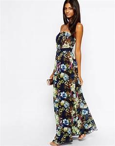 Robe Blanche Longue Boheme : robe longue bustier fleurie boheme la robe longue ~ Preciouscoupons.com Idées de Décoration