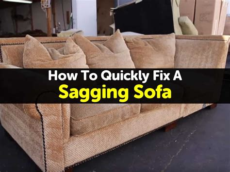 Sagging Sofa Fix How To Fix The Springs On Saggy Sofa Diy