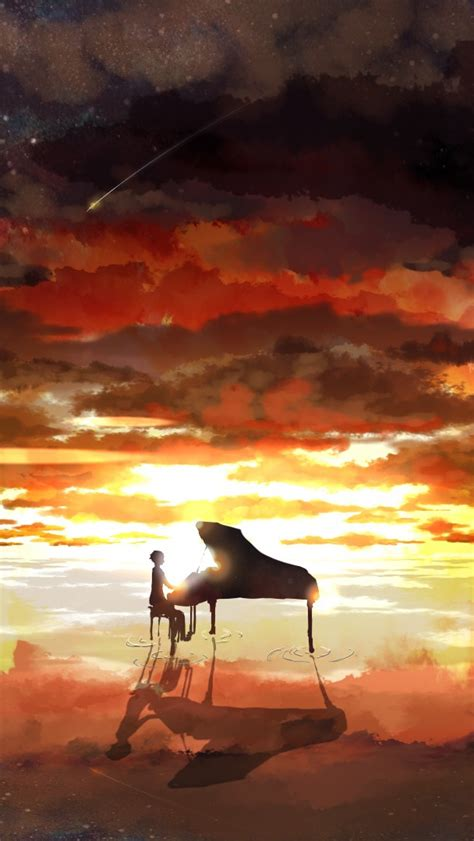 piano rising sun anime iphone wallpaper iphone wallpapers