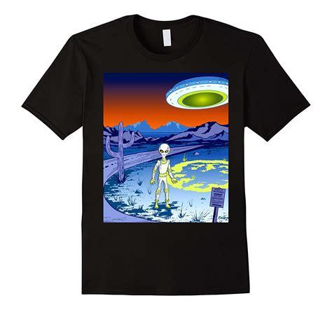 Area 51 Cool Alien and UFO TShirtPL Polozatee