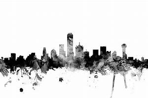 Dallas Texas Skyline Digital Art by Michael Tompsett