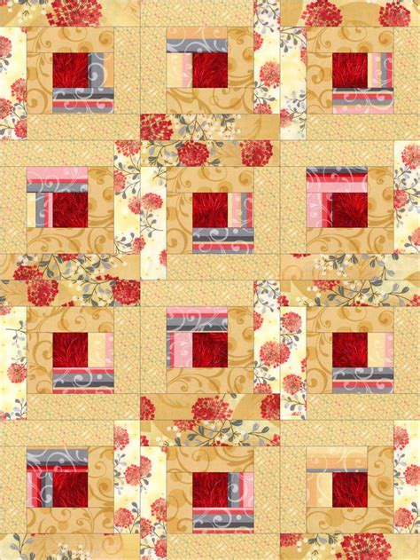pre cut quilt kits crimson gold log cabin pre cut quilt kit blocks products