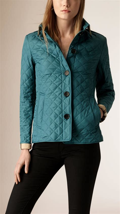 burberry quilted jacket lyst burberry quilted shell jacket in blue