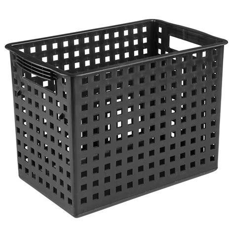 Tall Storage Bin in Plastic Baskets