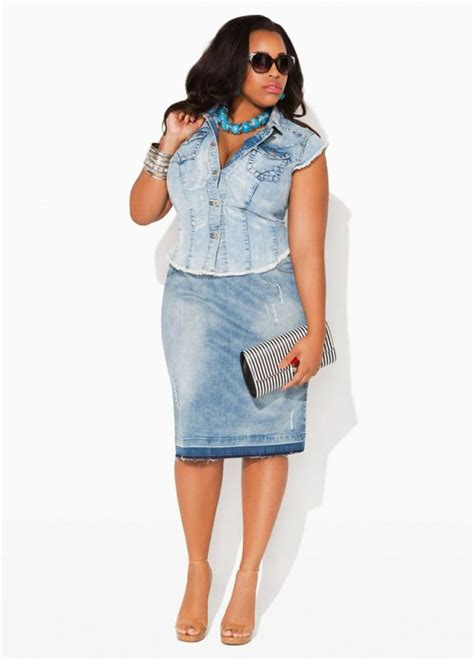 Plus Size Denim Skirts 5 best outfits - Page 2 of 5 - plussize-outfits.com
