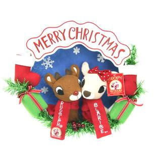 rudolph  red nosed reindeer clarice wreath
