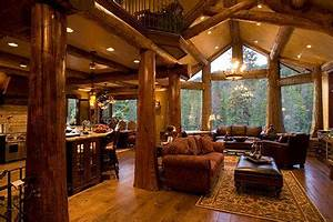 log cabins with log post inside house post pictures With log homes interior designs 2
