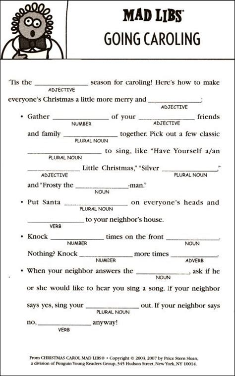 1000+ Images About Mad Libs On Pinterest  Parts Of Speech, Christmas Carol And Worksheets