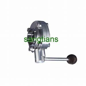 2 1  2 U0026quot  Ss 304 Butterfly Valve Manual Stainless Steel