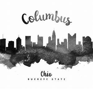 Columbus Ohio Skyline 18 Painting by Aged Pixel