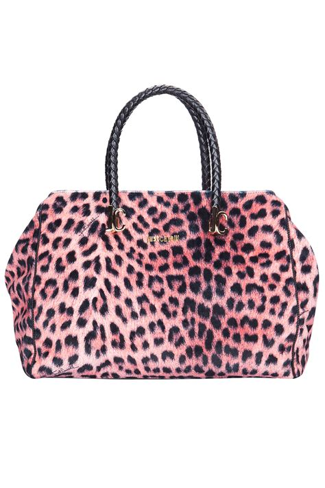 just cavalli pink leopard print tote bag pink 365ist